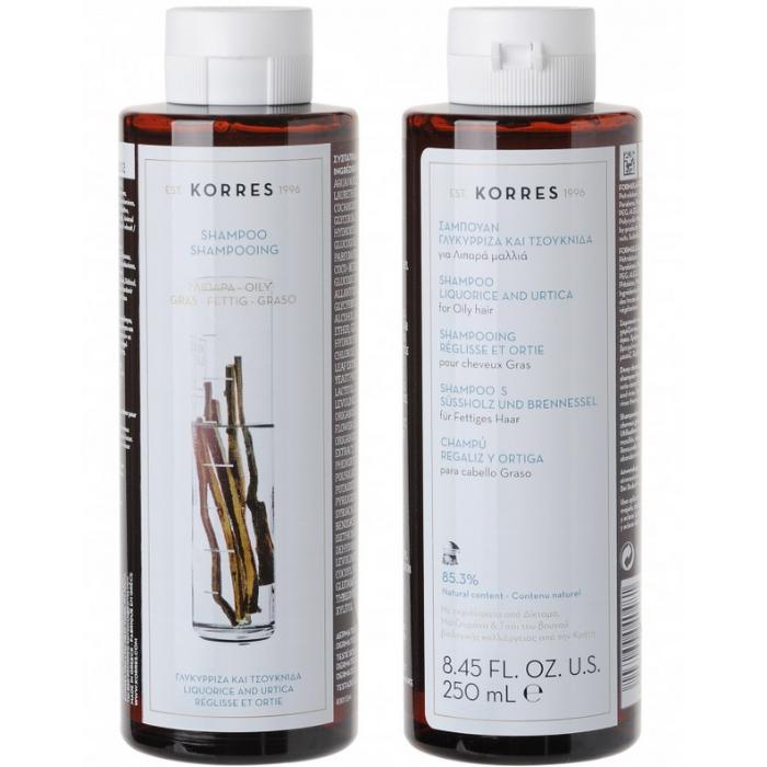 KORRES Liquorice and Urtica Oily Hair Shampoo x2